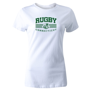 Rugby Connecticut Women's Cut Statement T-Shirt (White)