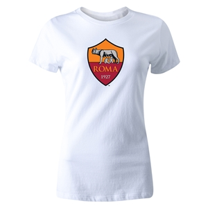 AS Roma Crest Women's T-Shirt (White)
