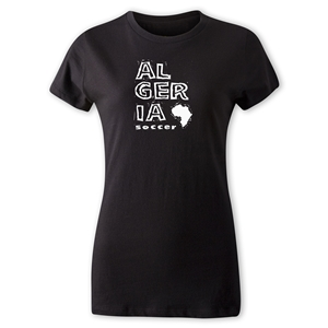 Algeria Women's Country T-Shirt (Black)