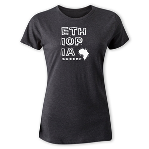Ethiopia Women's Country T-Shirt (Dark Gray)