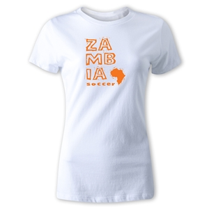 Zambia Women's Country T-Shirt (White)