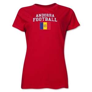 Andorra Women's Football T-Shirt (Red)