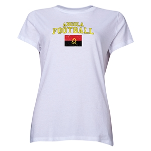 Angola Women's Football T-Shirt (White)