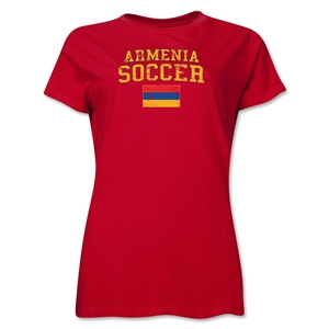 Armenia Women's Soccer T-Shirt (Red)