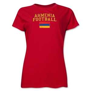 Armenia Women's Football T-Shirt (Red)