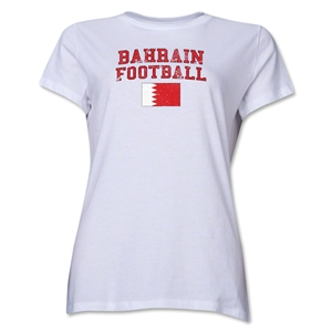 Bahrain Women's Football T-Shirt (White)