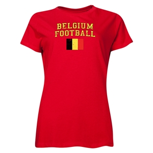 Belgium Women's Football T-Shirt (Red)