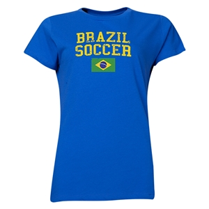 Brazil Women's Soccer T-Shirt (Royal)