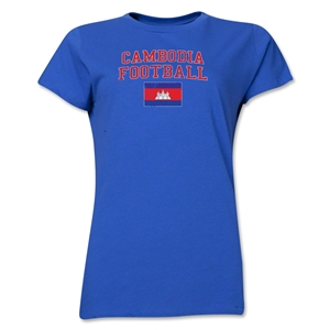 Cambodia Women's Football T-Shirt (Royal)