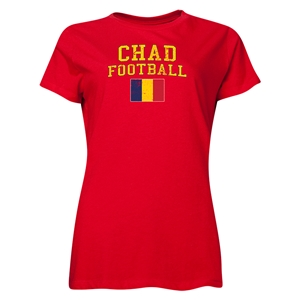 Chad Women's Football T-Shirt (Red)
