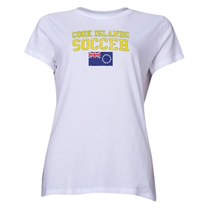 Cook Islands Women's Soccer T-Shirt (White)