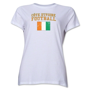 Cote d'Ivoire Women's Football T-Shirt (White)