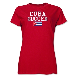 Cuba Women's Soccer T-Shirt (Red)
