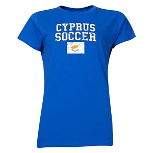 Cyprus Women's Soccer T-Shirt (Royal)