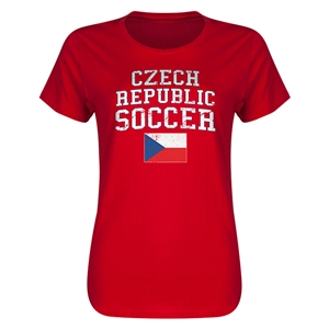 Czech Republic Women's Soccer T-Shirt (Red)