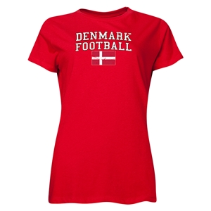 Denmark Women's Football T-Shirt (Red)