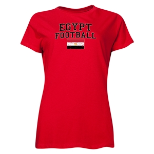 Egypt Women's Football T-Shirt (Red)