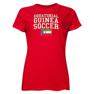 Equatorial Guinea Women's Soccer T-Shirt (Red)