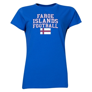 Faroe Islands Women's Football T-Shirt (Royal)