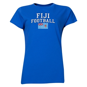Fiji Women's Football T-Shirt (Royal)