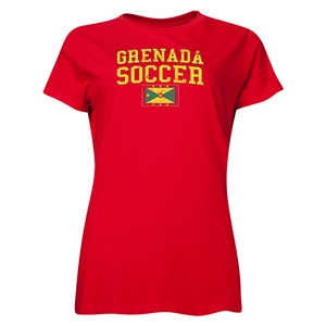 Grenada Women's Soccer T-Shirt (Red)