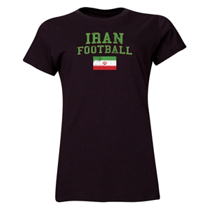 Iran Women's Football T-Shirt (Black)
