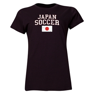 Japan Women's Soccer T-Shirt (Black)