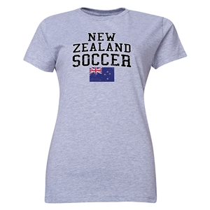 New Zealand Women's Soccer T-Shirt (Grey)