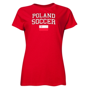 Poland Women's Soccer T-Shirt (Red)