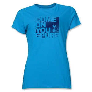 Tottenham Come On You Spurs Women's T-Shirt (Turquoise)