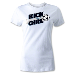 Utopia Kick Like A Girl Graphic T-Shirt (White)