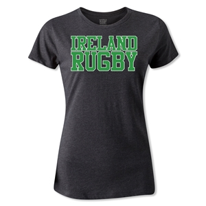 Ireland Women's Supporter Rugby T-Shirt (Dark Gray)