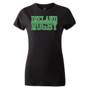 Ireland Women's Supporter Rugby T-Shirt (Black)
