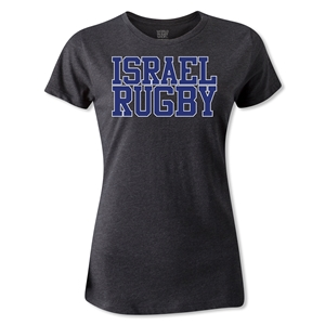 Israel Women's Supporter Rugby T-Shirt (Dark Gray)