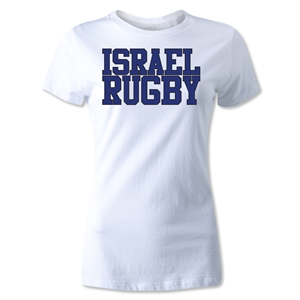 Israel Women's Supporter Rugby T-Shirt (White)