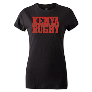 Kenya Women's Supporter Rugby T-Shirt (Black)