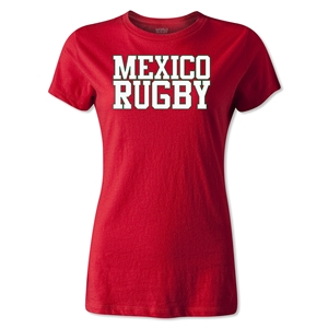 Mexico Women's Supporter Rugby T-Shirt (Red)