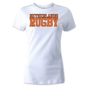 Netherlands Women's Rugby Supporter T-Shirt (White)