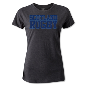 Scotland Women's Supporter Rugby T-Shirt (Dark Gray)