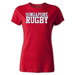 Singapore Women's Supporter Rugby T-Shirt (Red)