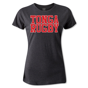 Tonga Women's Supporter Rugby T-Shirt (Dark Gray)