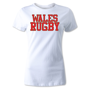 Wales Women's Supporter Rugby T-Shirt (White)