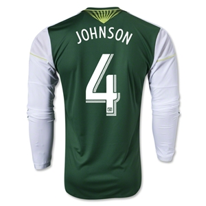 Portland Timbers 2013 JOHNSON LS Authentic Primary Soccer Jersey