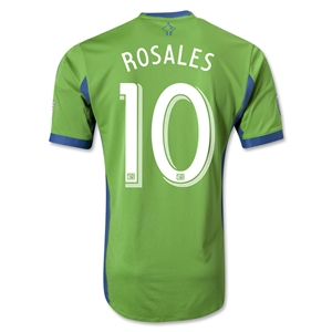 Seattle Sounders FC 2013 ROSALES Authentic Primary Soccer Jersey