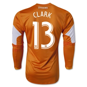 Houston Dynamo 2013 CLARK LS Authentic Primary Soccer Jersey