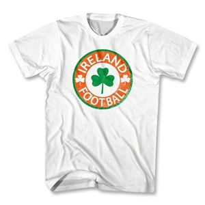 Ireland Football Clover Crest T-Shirt (White)
