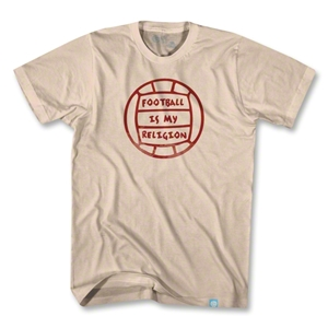 Objectivo Football is My Religion Ball T-Shirt (Khaki)