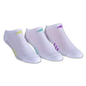 adidas Women's Superlite ClimaCool II 3-Pack No Show Sock (White/Gray)