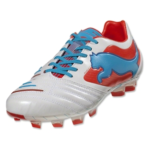 PUMA PowerCat 1.12 FG (Metallic White/Orange)
