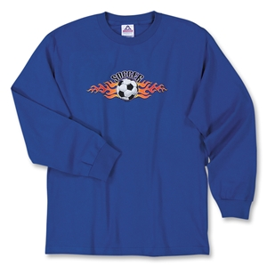 Soccer Flame LS T-Shirt (Royal)